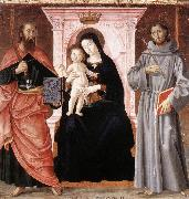 Madonna Enthroned with the Infant Christ and Saints jj ANTONIAZZO ROMANO