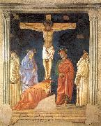 Crucifixion and Saints Andrea del Castagno