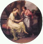 Papirius Pratextatus Entreated by his Mother to Disclose the Secrets of the Deliberations of the Rom Angelica Kauffmann