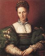 Portrait of a Lady in Green BRONZINO, Agnolo
