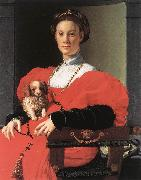 Portrait of a Lady with a Puppy f BRONZINO, Agnolo