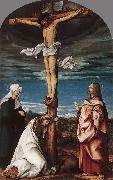 Crucifix with Mary, Mary Magdalen and St John the Evangelist BURGKMAIR, Hans