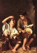 Boys Eating Fruit Bartolome Esteban Murillo