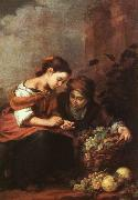 Girls Selling Fruit Bartolome Esteban Murillo
