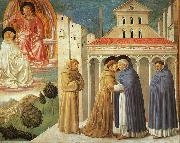 The Meeting of Saint Francis and Saint Domenic Benozzo Gozzoli