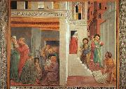 The Birth of St.Francis and Homage of the Simple Man Benozzo Gozzoli