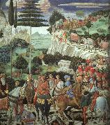 Procession of the Magus Melchoir Benozzo Gozzoli