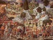 Procession of the Magus Gaspar Benozzo Gozzoli