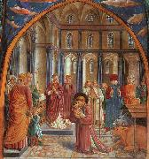 Establishment of the Manger at Greccio Benozzo Gozzoli