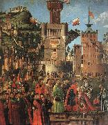 Departure of the Pilgrims (detail) sdf CARPACCIO, Vittore