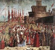 The Pilgrims Meet the Pope (detail) kk CARPACCIO, Vittore