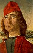 Portrait of an Unknown Man with Red Beret dfg CARPACCIO, Vittore