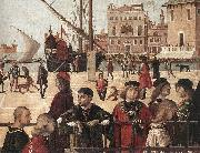 Arrival of the English Ambassadors (detail) fg CARPACCIO, Vittore