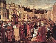 The Sermon of St Stephen dftg CARPACCIO, Vittore