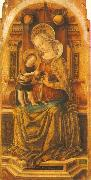 Virgin and Child Enthroned sdf CRIVELLI, Carlo
