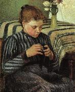 Girl Sewing Camille Pissaro