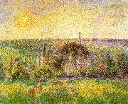 Countryside and Eragny Church and Farm Camille Pissaro