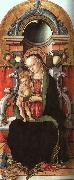 Madonna and Child Enthroned with a Donor Carlo Crivelli