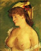Blonde Woman with Naked Breasts Edouard Manet