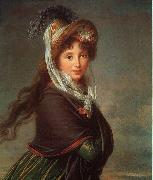 Portrait of a Young Woman-p Elisabeth LouiseVigee Lebrun