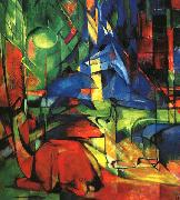 Deer in the Forest II Franz Marc