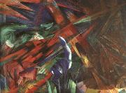 Animal Destinies : The Trees Show their Rings ; The Animals, their Veins Franz Marc