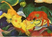 Cows, Yellow, Red, Green Franz Marc
