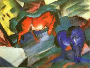 Red and Blue Horse Franz Marc