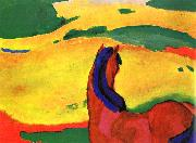 Horse in a Landscape Franz Marc