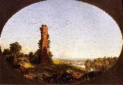 New England Landscape with Ruined Chimney Frederic Edwin Church