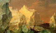 Icebergs and Wreck in Sunset Frederic Edwin Church
