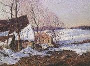 Barns in Winter George M Bruestle