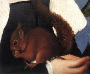 Portrait of a Lady with a Squirrel and a Starling (detail) sf HOLBEIN, Hans the Younger
