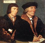 Double Portrait of Sir Thomas Godsalve and His Son John HOLBEIN, Hans the Younger
