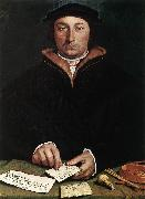 Portrait of Dirk Tybis  fgbs HOLBEIN, Hans the Younger