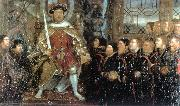 Henry VIII and the Barber Surgeons sf HOLBEIN, Hans the Younger