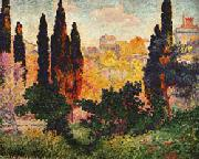 Cypress Trees at Cagnes Henri Edmond Cross