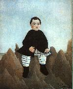 Boy on the Rocks Henri Rousseau