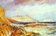 Pendennis Castle Cornwall; Scene after a Wreck. J.M.W. Turner