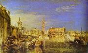 Bridge of Signs, Ducal Palace and Custom- House, Venice Canaletti Painting J.M.W. Turner