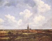 Landscape with Church and Village Jacob van Ruisdael