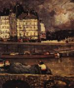 The Left Branch of the Seine before the Place Dauphine James Wilson Morrice