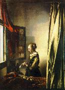 Girl Reading a Letter at an Open Window JanVermeer