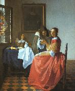 A Lady and Two Gentlemen JanVermeer