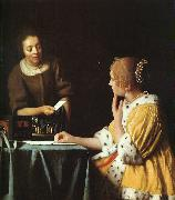 Lady with her Maidservant JanVermeer
