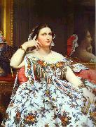 Portrait of Madame Moitessier Sitting. Jean Auguste Dominique Ingres