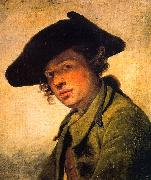 A Young Man in a Hat Jean Baptiste Greuze