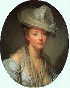 Young Woman in a White Hat Jean Baptiste Greuze