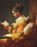 Young Girl Reading Jean-Honore Fragonard