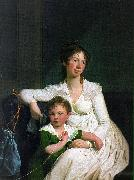 Portrait of a Noblewoman with her Son Jens Juel